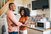 Couple in love stay at home during isolation
