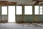 Isolated abandoned house interior