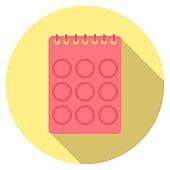 Vector graphics, calendar icon.
