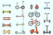 Electric transport Icons set 02-02