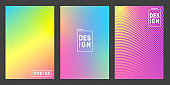 Abstract vector design gradient blue, Yellow, pink and purple color background. Eps10
