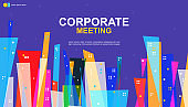 Abstract cover design. Business background. Colorful elements. Announcement conference. Conference design template. poster business meeting banner. Vector illustration.