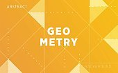 modern yellow gradient abstract geometry shape background