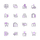 Simple Set of Shopping and E-commerce Color Vector Line Icons