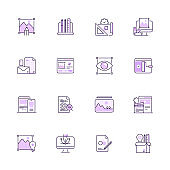Simple Set of Design and Development Color Vector Line Icons