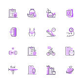 Simple Set of Sport and Fitness Color Vector Line Icons