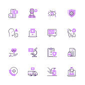Simple Set of Medical and Healthcare Color Vector Line Icons