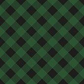 Lumberjack plaid seamless pattern. Vector illustration. Dark green color. Textile template.