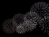 Firework background new year night sky party isolated display