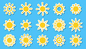 Summer symbol for tableware decor, clothing, toys
