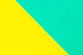 Abstract yellow and green color paper textured background with copy space for design and decoration