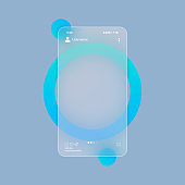 Glassmorphism style. Social media concept. Photo carousel blank template. Realistic glass morphism effect with set of transparent glass plates. Vector illustration
