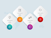 abstract horizontal banner infographics with business icons