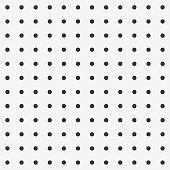 Peg board perforated texture background material with round holes seamless pattern board vector illustration.