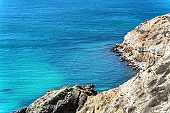 Beautiful seascape on sunny day. Beautiful summer landscape. Natural background.