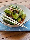 Korean food stuffedcucumberpickles, cucumberkimchi, Oi-so-bagi