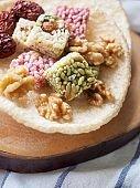 Korean traditional snacks SweetRicePuffs, Gangjeong