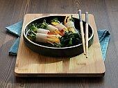 Korean food ssam radish and vegetable, side dish