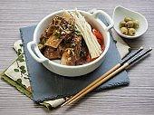 Korean food Braised Short Ribs, Beef rib steak