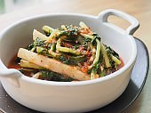 Korean food young radish kimchi