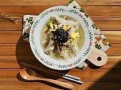 Asian traditional food dumpling soup