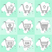 Different types of shopping cart icons.