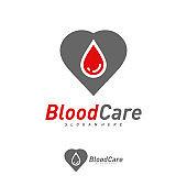 Blood love design vector template, Creative Blood design concepts