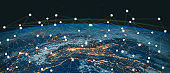 Global connection The best in the world of wireless connections Best Global Business Internet Ideas from Artificial Intelligence Concept Set. Elements of this image furnished by NASA.