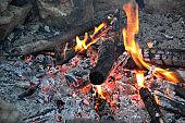 fire, flame, heat, charcoal, bonfire, hot, burn