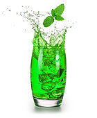 Mint flavored drink