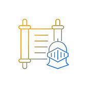 History gradient linear vector icon