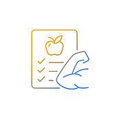 Health gradient linear vector icon