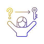 Problem solving skills gradient linear vector icon