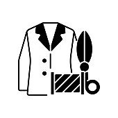Custom suits and shirts black linear icon