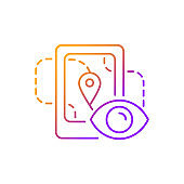 Location tracking gradient linear vector icon