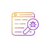 Web bug gradient linear vector icon