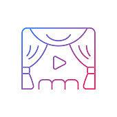 Premiere gradient linear vector icon