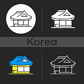 Hanok dark theme icon