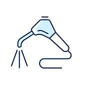 Dental water sprayer RGB color icon