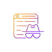 Private browsing gradient linear vector icon