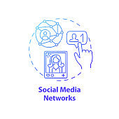 Social media networks concept icon