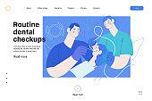 Routine dental checkups - medical insurance web template