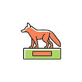 Taxidermy RGB color icon