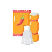 Condiments vector flat color icon