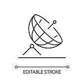Satellite dish linear icon