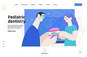 Pediatric dentistry - medical insurance web template