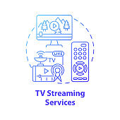 TV streaming services concept icon