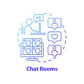 Chat rooms concept icon