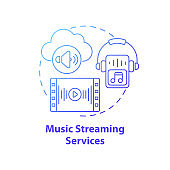 Music streaming services concept icon
