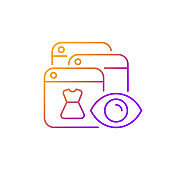 Online behavioral tracking gradient linear vector icon